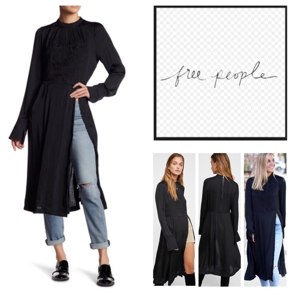 Free People New Day Embroidered Tunic jUgm7rK